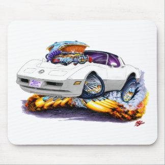 1980-82 Corvette White-Grey Car Mouse Pad