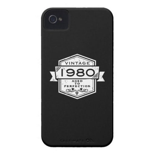 1980 Aged To Perfection iPhone 4 Case-Mate Cases