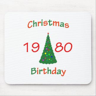 1980 Christmas Birthday Mousepad