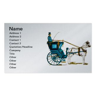 1980 s Horse and Carriage Business Card Template