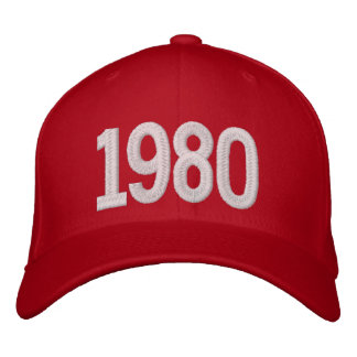 1980 Year Embroidered Hat