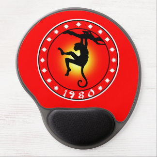 1980 Year of the Monkey Gel Mouse Pad