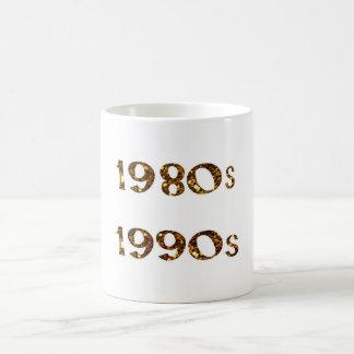 1980s and 1990s Nostalgia Gold Glitter Coffee Mug