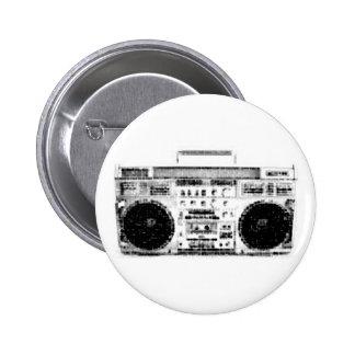 1980s Boombox 6 Cm Round Badge