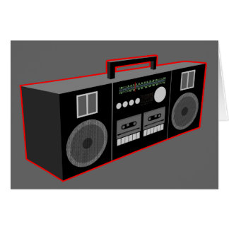 1980s Boombox Greeting Card
