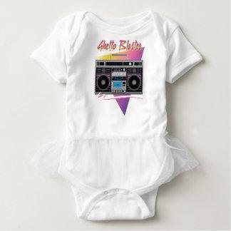1980s ghetto blaster boombox baby bodysuit