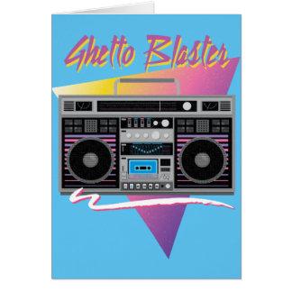1980s ghetto blaster boombox card