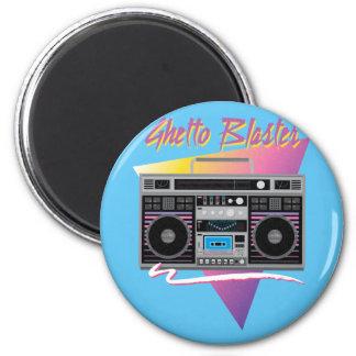 1980s ghetto blaster boombox magnet