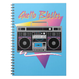 1980s ghetto blaster boombox notebook