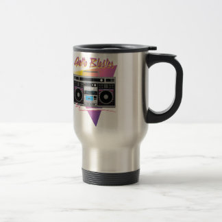 1980s ghetto blaster boombox travel mug