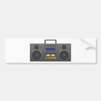 1980's Hip Hop Style Boombox Bumper Sticker