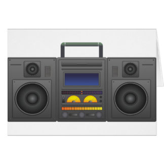 1980's Hip Hop Style Boombox Card