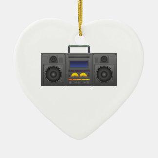 1980's Hip Hop Style Boombox Ceramic Heart Decoration