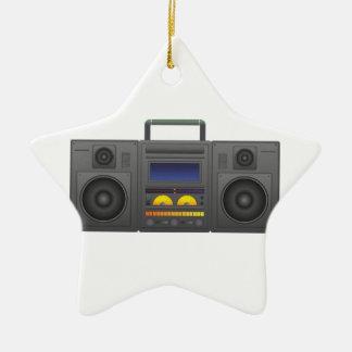 1980's Hip Hop Style Boombox Ceramic Star Decoration