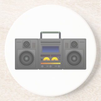 1980's Hip Hop Style Boombox Coaster