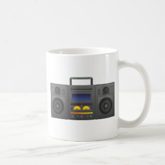 1980's Hip Hop Style Boombox Coffee Mug