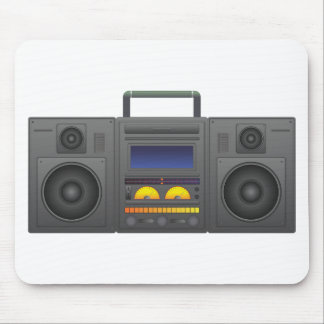 1980's Hip Hop Style Boombox Mouse Pad