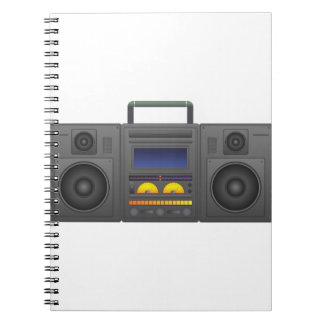 1980's Hip Hop Style Boombox Notebooks