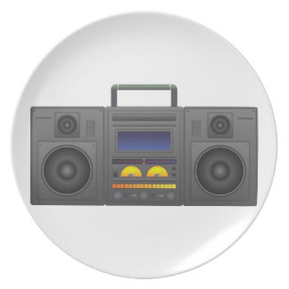 1980's Hip Hop Style Boombox Party Plate