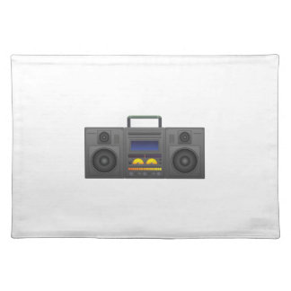 1980's Hip Hop Style Boombox Placemat