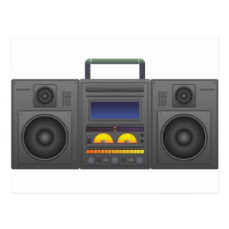 1980's Hip Hop Style Boombox Postcard