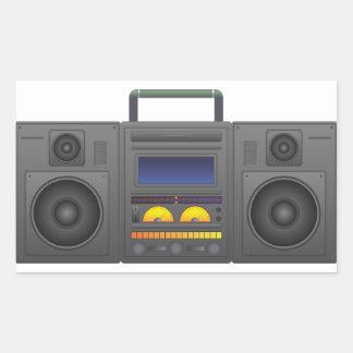 1980's Hip Hop Style Boombox Rectangular Sticker