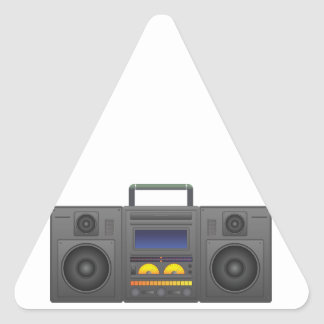 1980's Hip Hop Style Boombox Triangle Sticker