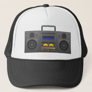 1980's Hip Hop Style Boombox Trucker Hat