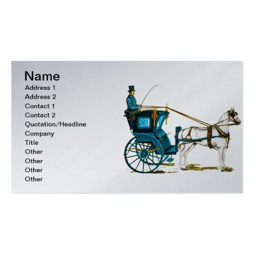1980's Horse and Carriage Business Card Template