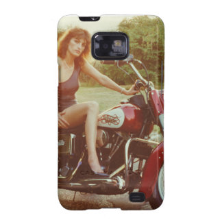 1980s Motorcycle Pinup Girl Samsung Galaxy S2 Case
