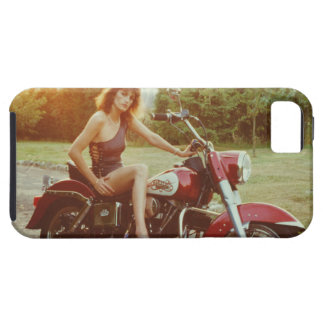 1980s Motorcycle Pinup Girl iPhone 5 Cover