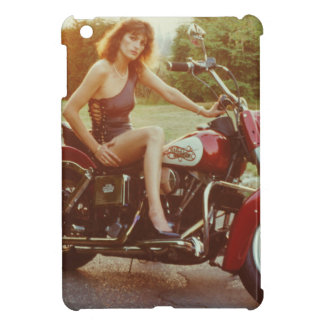 1980s Motorcycle Pinup Girl iPad Mini Cover
