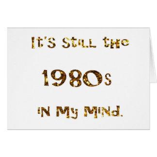 1980s Nostalgia Gold Glitter Card