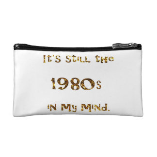 1980s Nostalgia Gold Glitter double-sided Makeup Bag