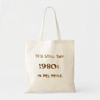 1980s Nostalgia Gold Glitter Tote Bag