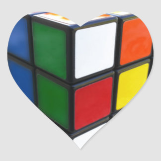 1980's Puzzle Cube Heart Sticker