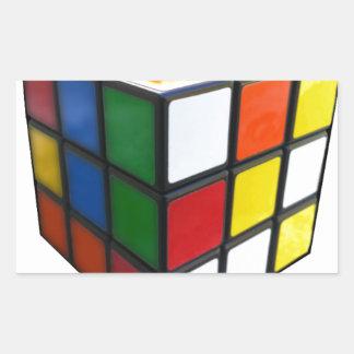1980's Puzzle Cube Rectangular Sticker