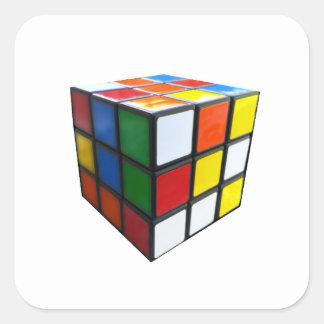 1980's Puzzle Cube Square Sticker