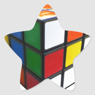 1980's Puzzle Cube Star Sticker