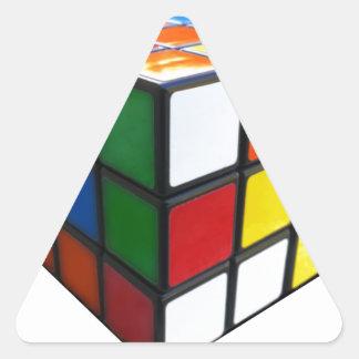 1980's Puzzle Cube Triangle Sticker