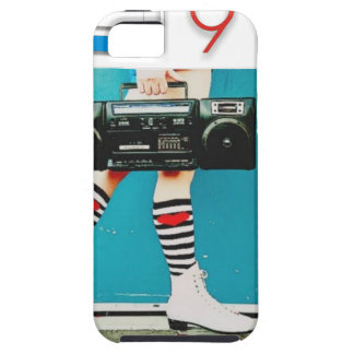 1980's Retro Boom Box and Roller Skates Design iPhone 5 Case
