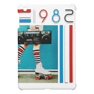 1980's Retro Boom Box and Roller Skates Design Cover For The iPad Mini
