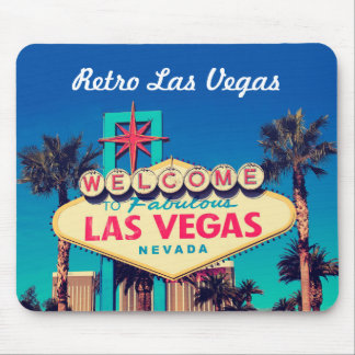 1980s Retro Fabulous Las Vegas Nevada Photo Mouse Pad