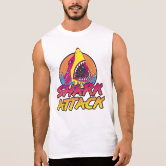 1980's Retro Shark Attack Sleeveless Shirt