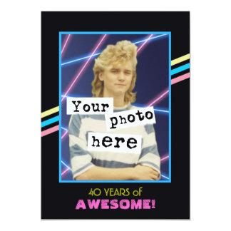 1980's Retro Style Photo Party Announcement