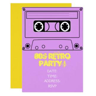1980s retro theme party card