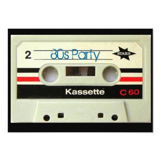 1980s Vintage geeky  Retro cassette Custom Invites