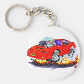 1982-92 Trans Am Red Car Basic Round Button Key Ring