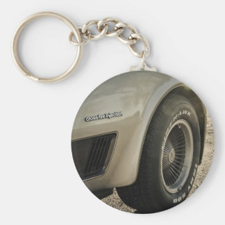 1982 Chevrolet Corvette Collector's Edition Wheel Basic Round Button Key Ring