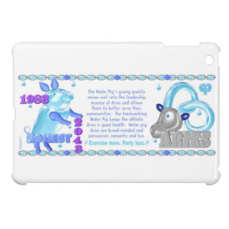 1983 2043 Chinese zodiac water pig born Aries Cover For The iPad Mini